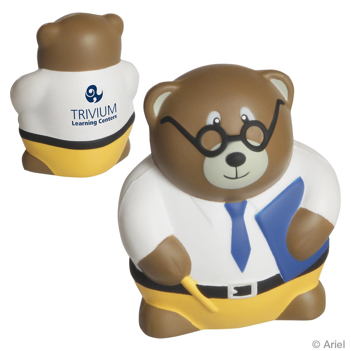 Teacher Bear Stress Reliever, LED-TB09, 1 Colour Imprint