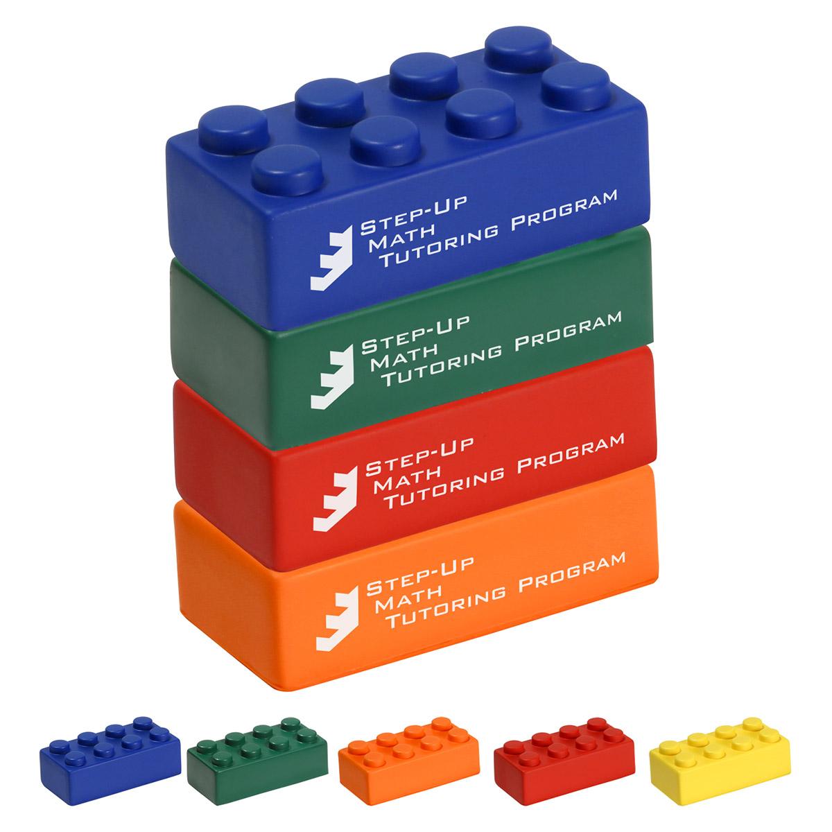 Building Block 4 Piece Set Stress Reliever, LGS-BL09 - 1 Colour Imprint
