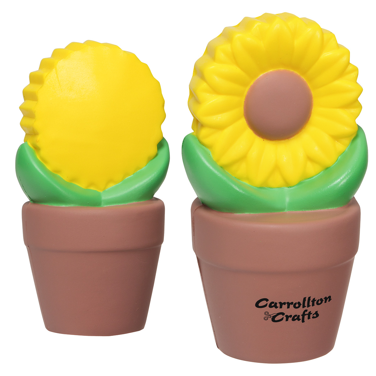 Sunflower In Pot Stress Reliever, LNA-SP05, 1 Colour Imprint