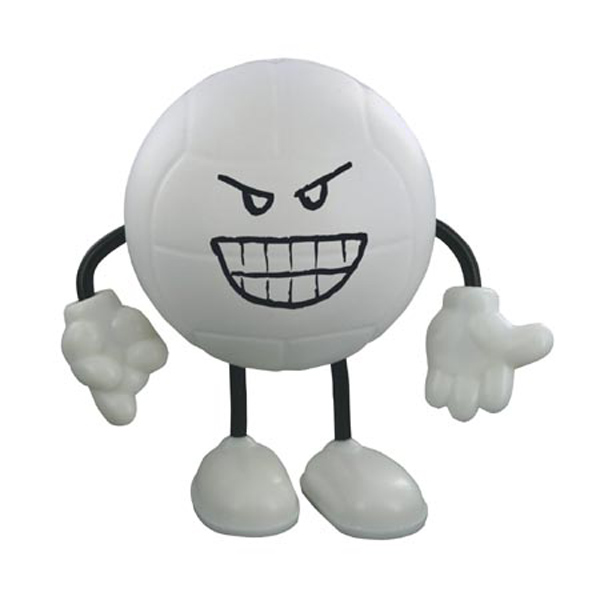 Volleyball Stress Reliever Figure, LCH-VL08, 1 Colour Imprint