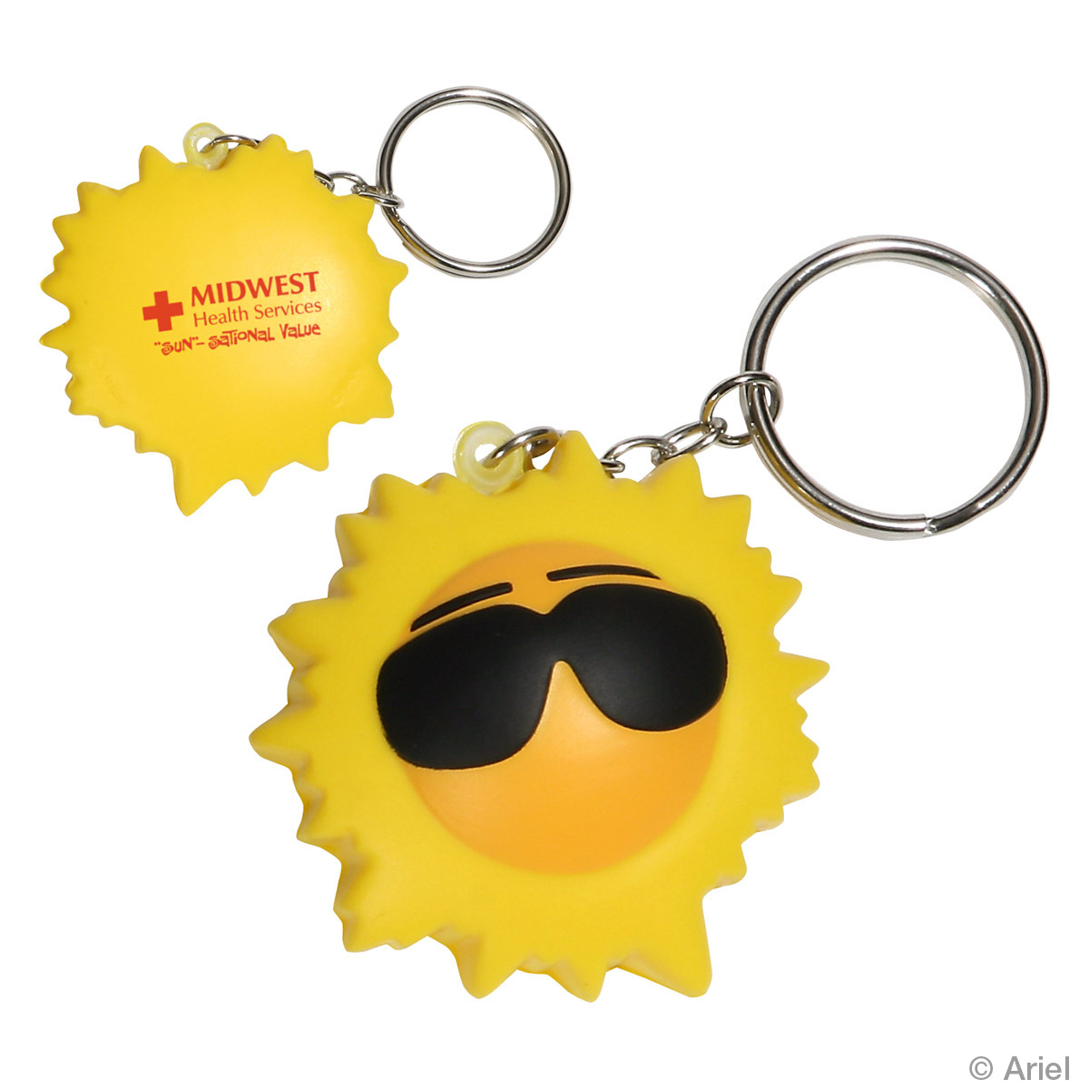 Cool Sun Stress Reliever Key Chain, LKC-CS11, 1 Colour Imprint