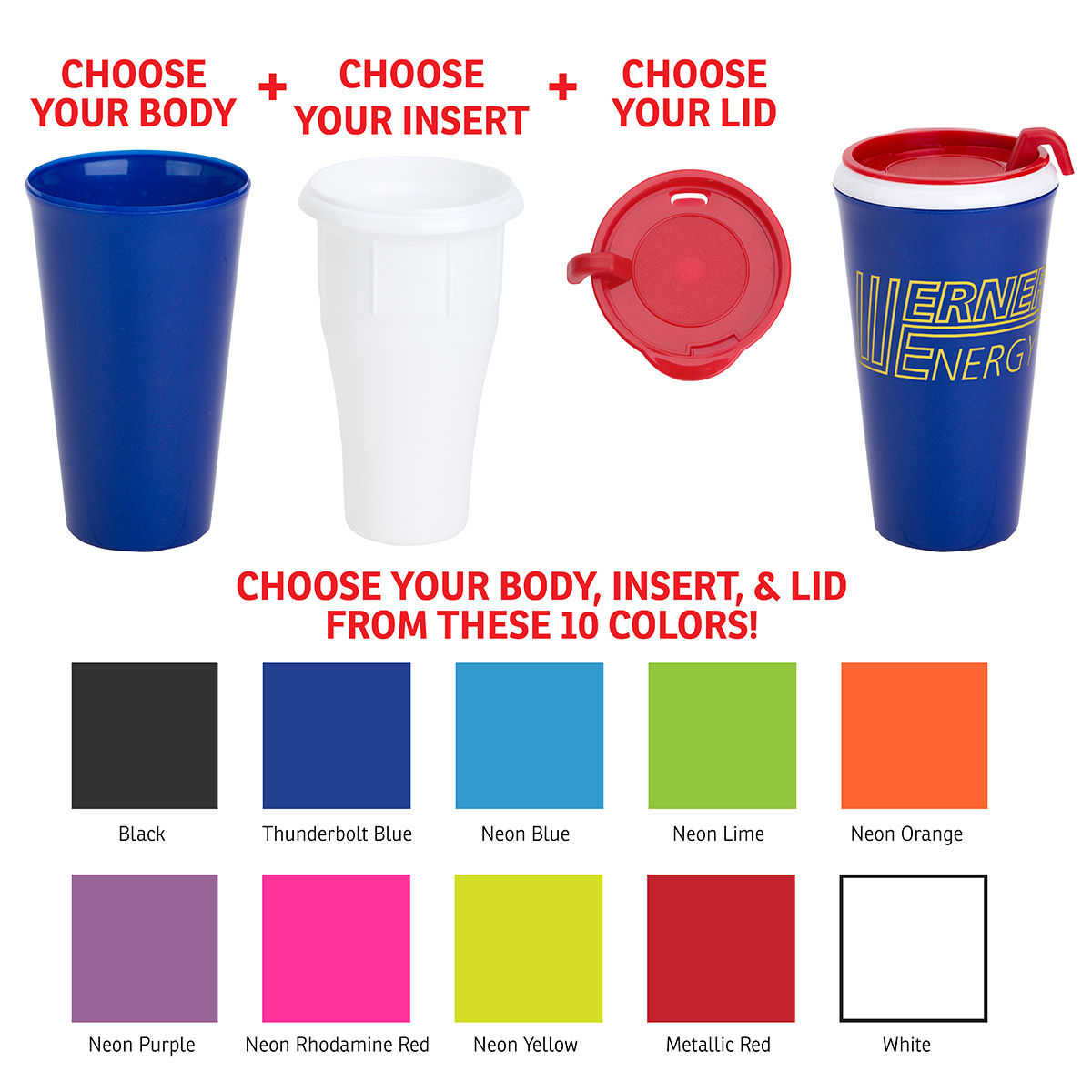 SPECTRUM 16 oz Tumbler, DWI-SP17, 1 Colour Imprint