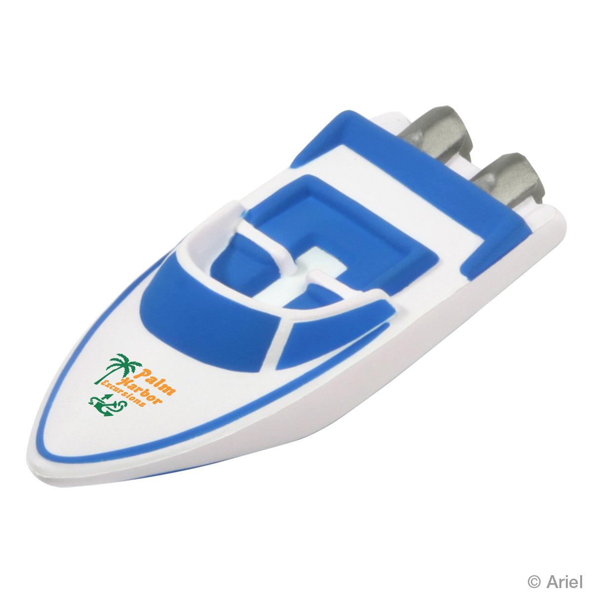 Speedboat Stress Reliever, LTV-SP07, 1 Colour Imprint