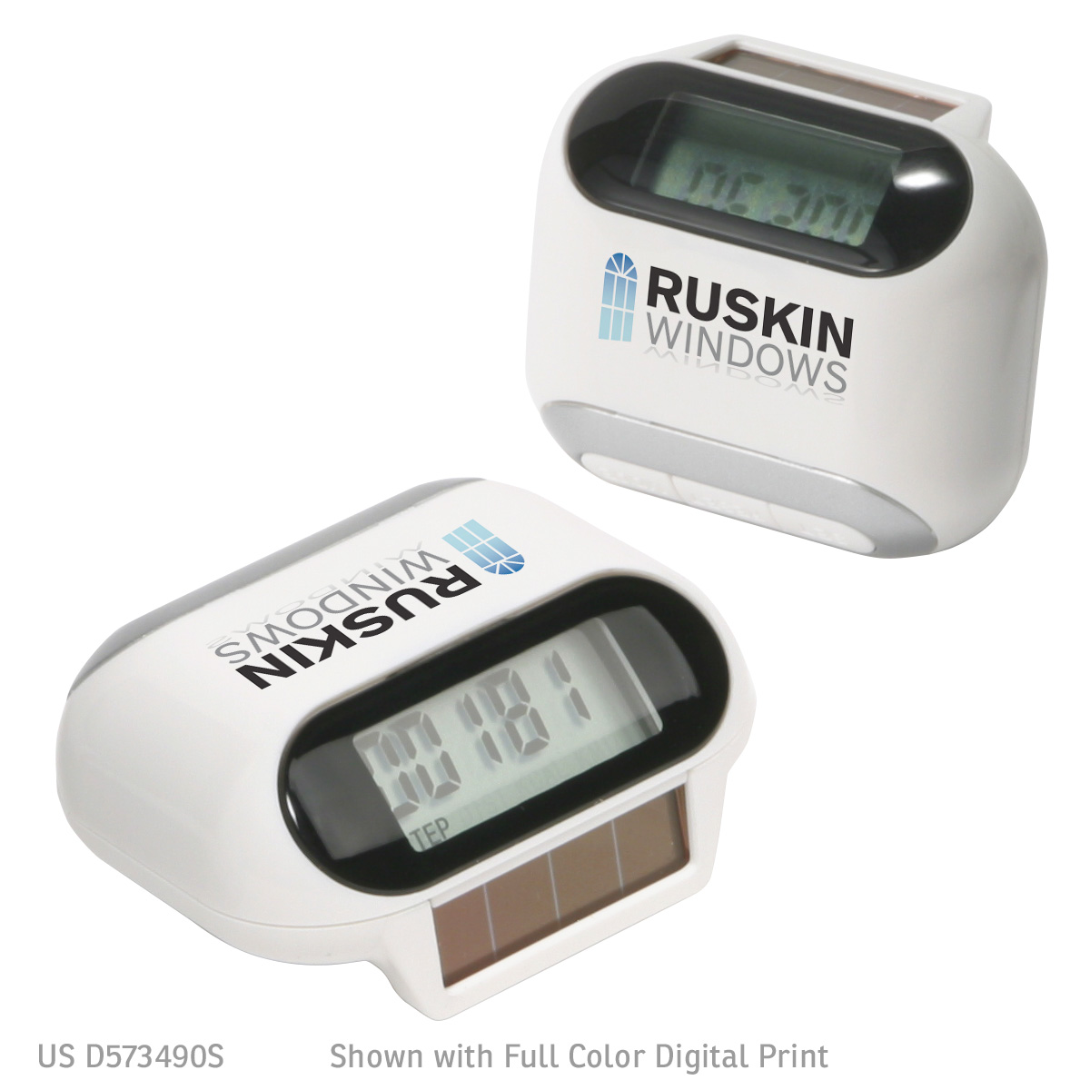 Solar Powered Pedometer, WHF-SL07, 1 Colour Imprint