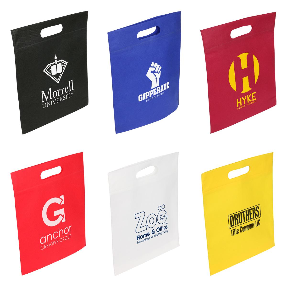 Echo Small Tote Bag w/ Die Cut Handle, WBA-ES11 - 1 Colour Imprint