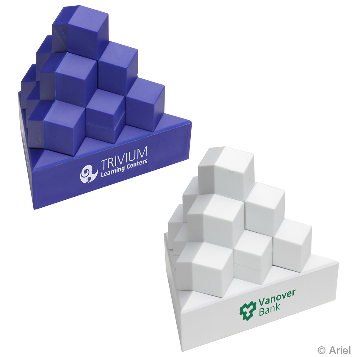 Pyramid Stack Puzzle Set, WPZ-PS12 - 1 Colour Imprint