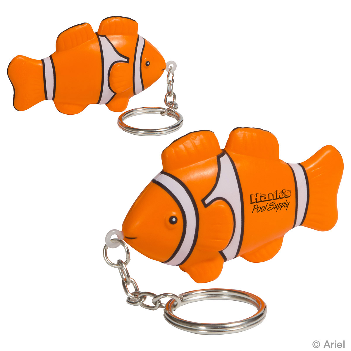 Clown Fish Stress Reliever Key Chain, LKC-CF15, 1 Colour Imprint