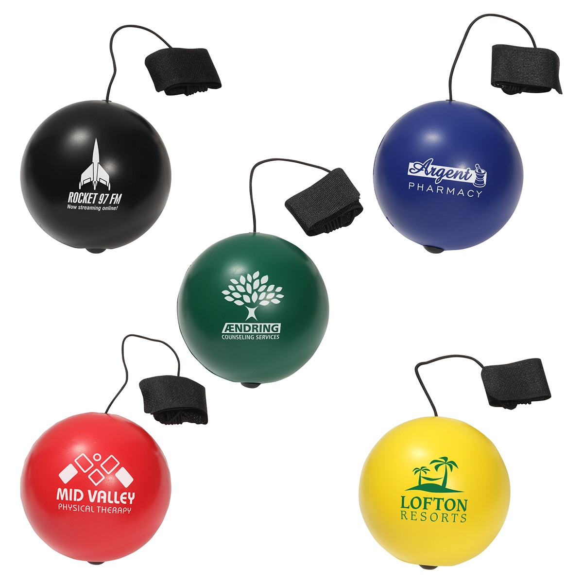 Stress Ball Yo-Yo Bungee, LYY-SB03 - 1 Colour Imprint