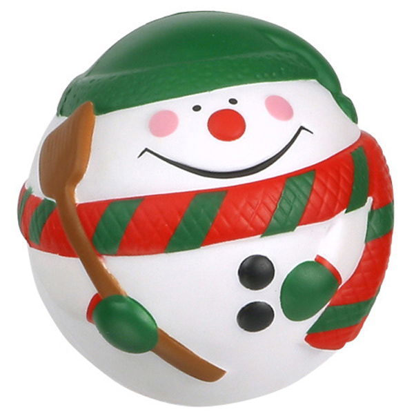 Snowman Stress Ball, LHO-SN08 - 1 Colour Imprint