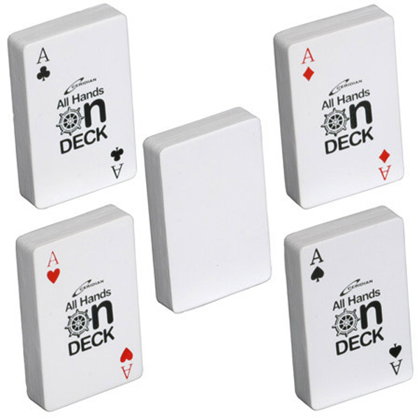 Deck of Cards Stress Reliever, LTV-DC06 - 1 Colour Imprint