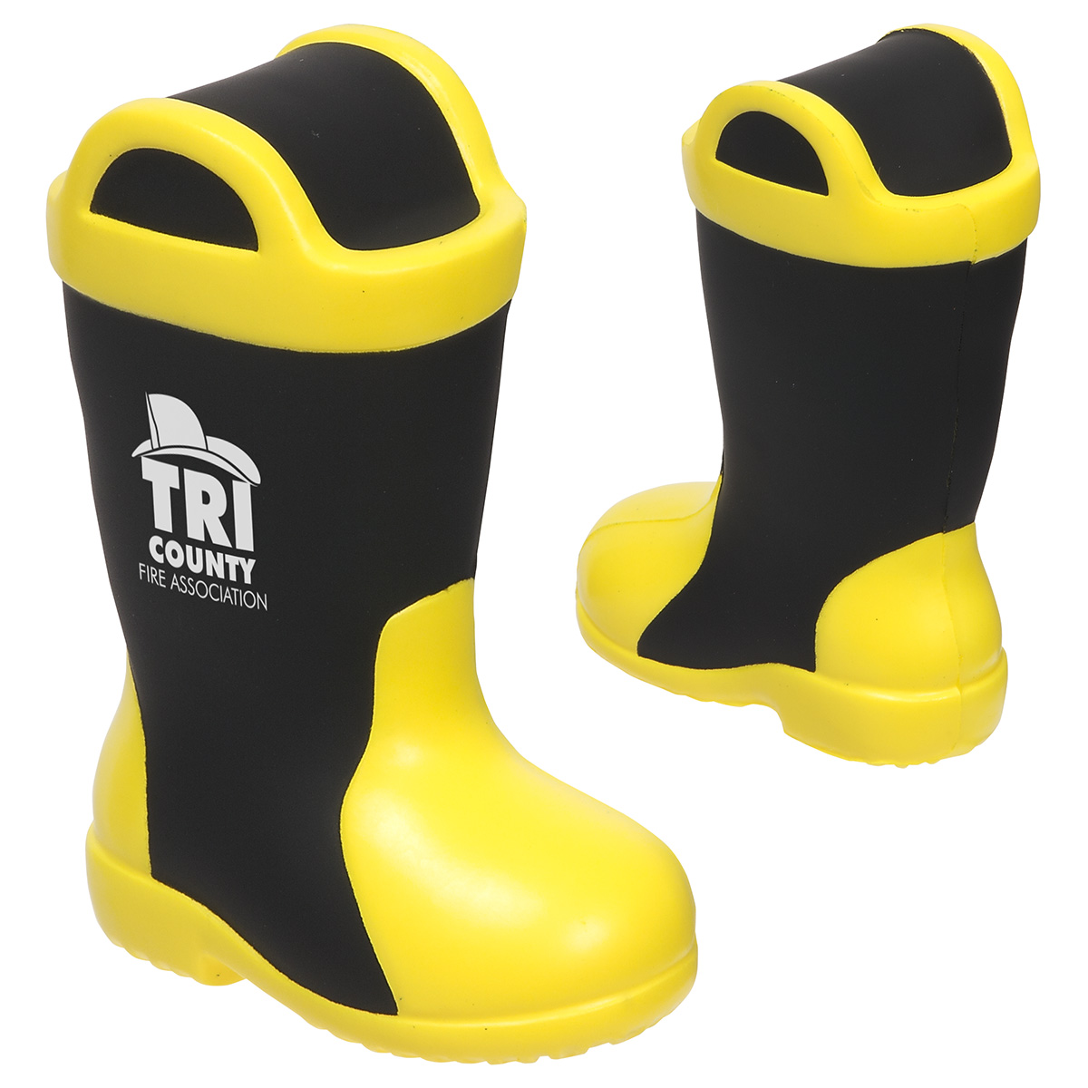 Firefighter Boot Stress Reliever, LCC-FB18, 1 Colour Imprint