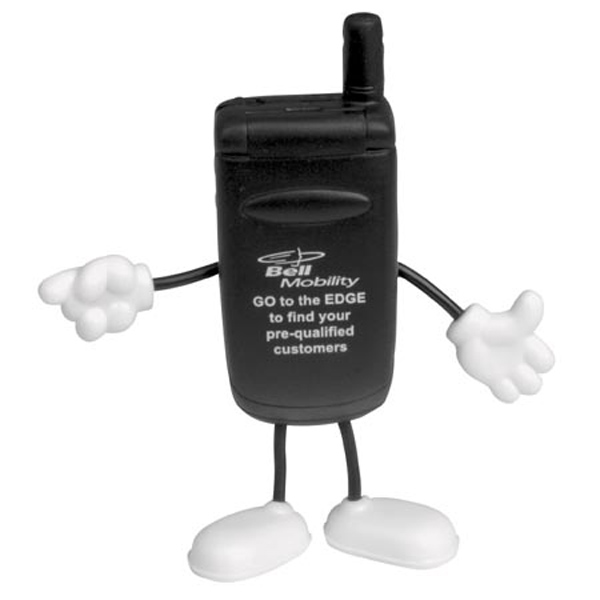 Cell Phone Figure Stress Reliever, LCH-CE12 - 1 Colour Imprint
