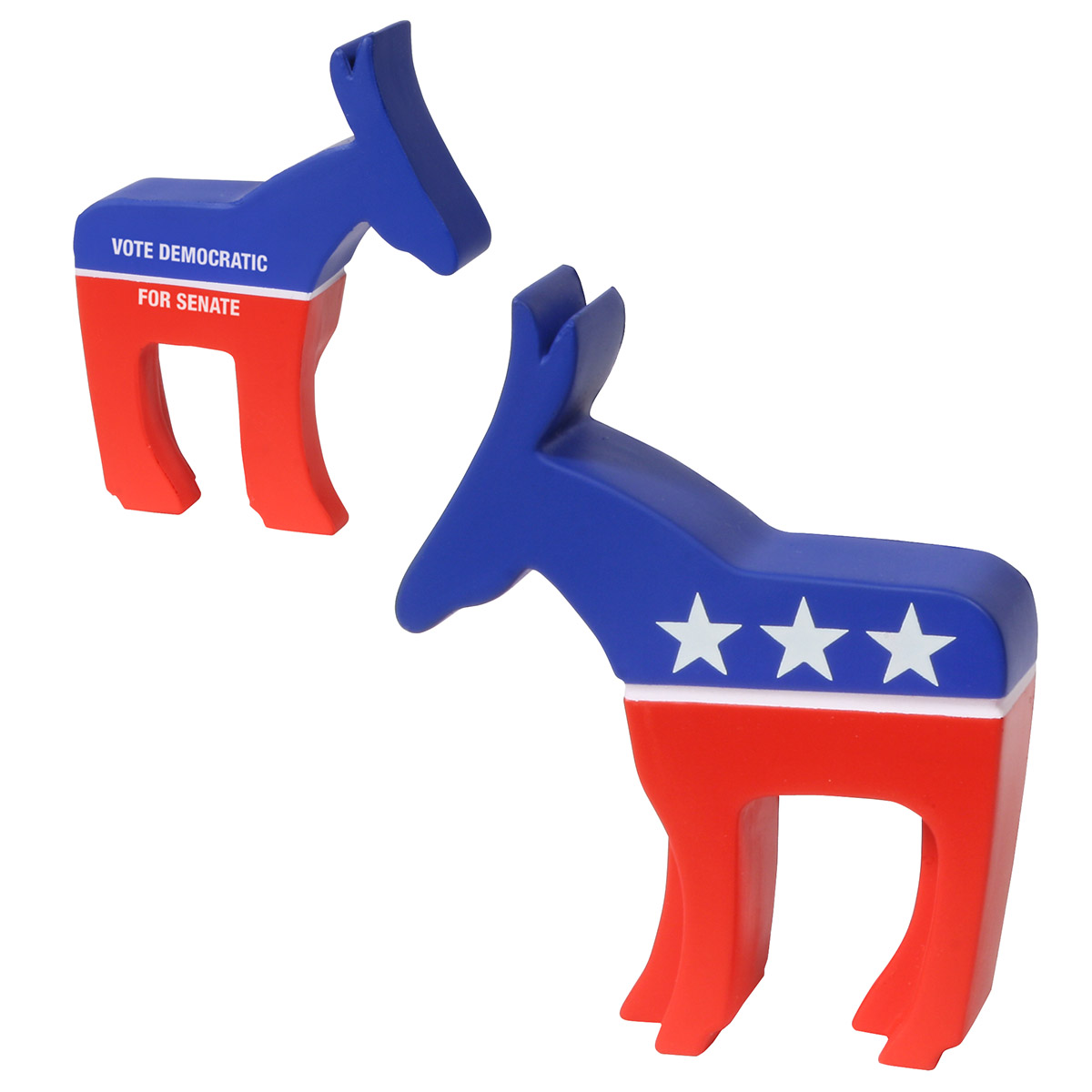 Democratic Donkey Stress Reliever, LPA-DD13, 1 Colour Imprint