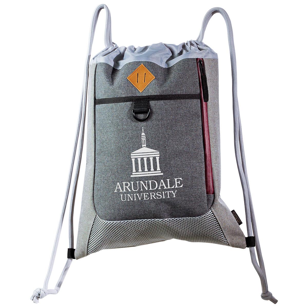 Bordeaux String Backpack by Taroko(TM), WBT-SB18, 1 Colour Imprint