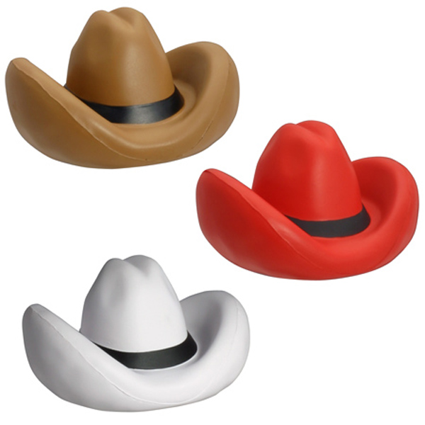 Cowboy Hat Stress Reliever, LWE-CH30, 1 Colour Imprint
