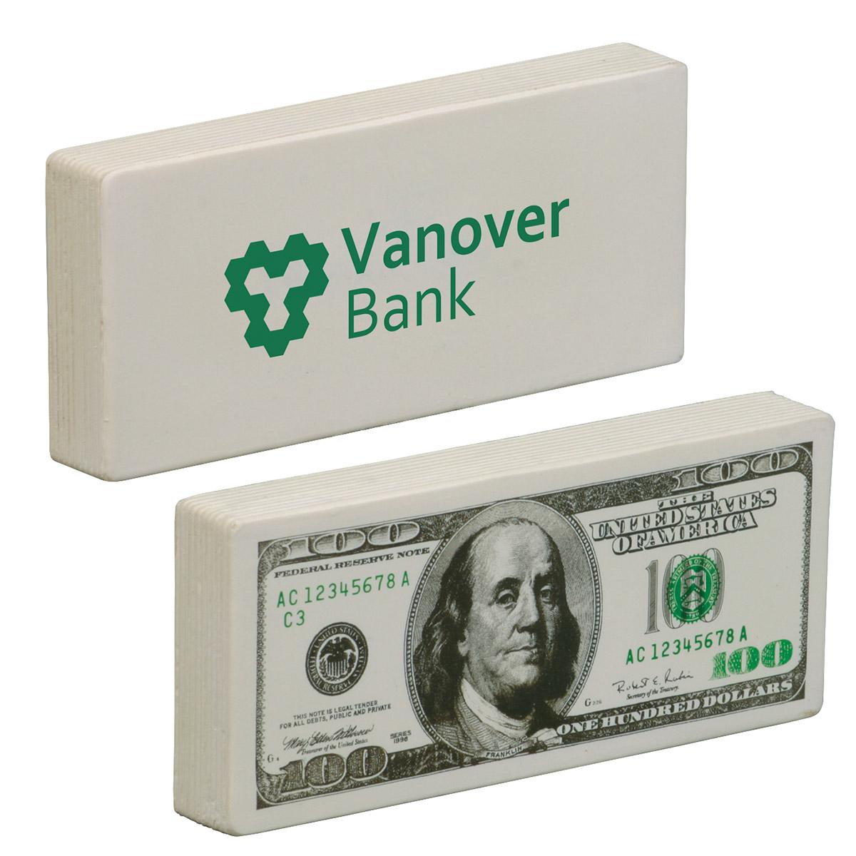 $100 Bill Stress Reliever, LFN-HD01 - 1 Colour Imprint