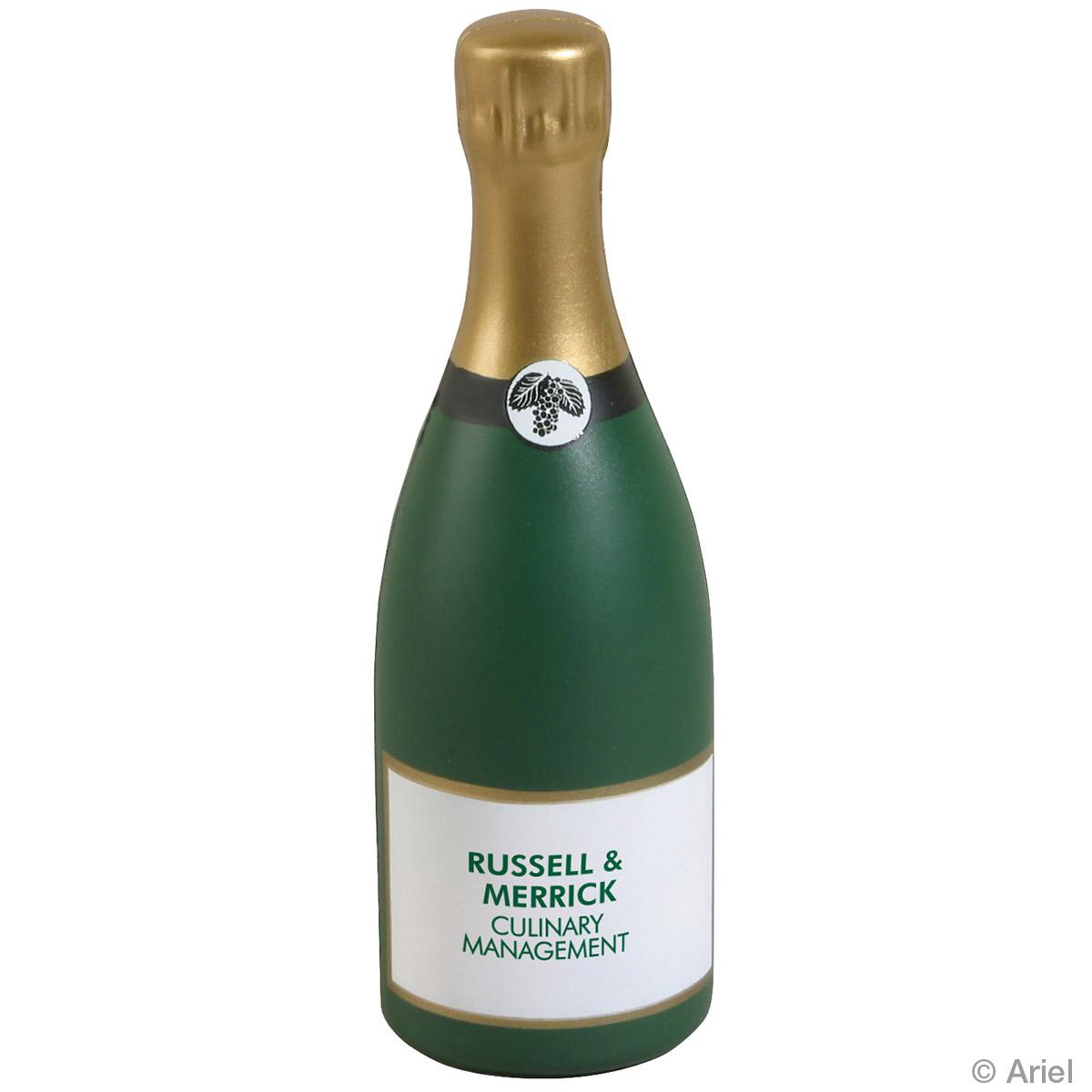 Champagne Bottle Stress Reliever, LFD-CN01 - 1 Colour Imprint