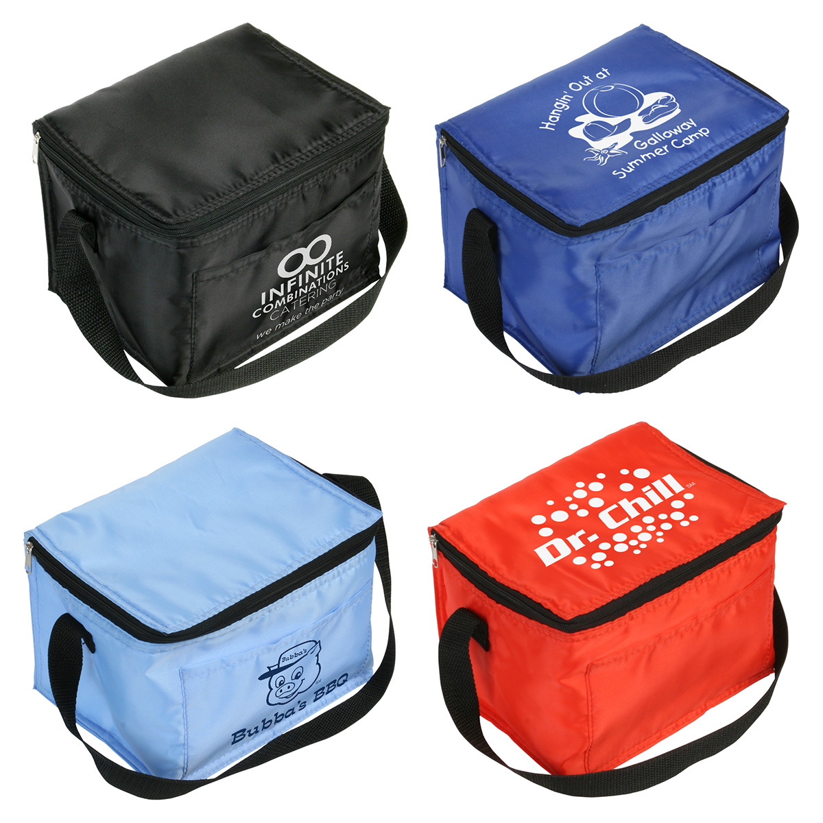 Snow Roller 6-Pack Cooler Bag, WBA-SR09, 1 Colour Imprint