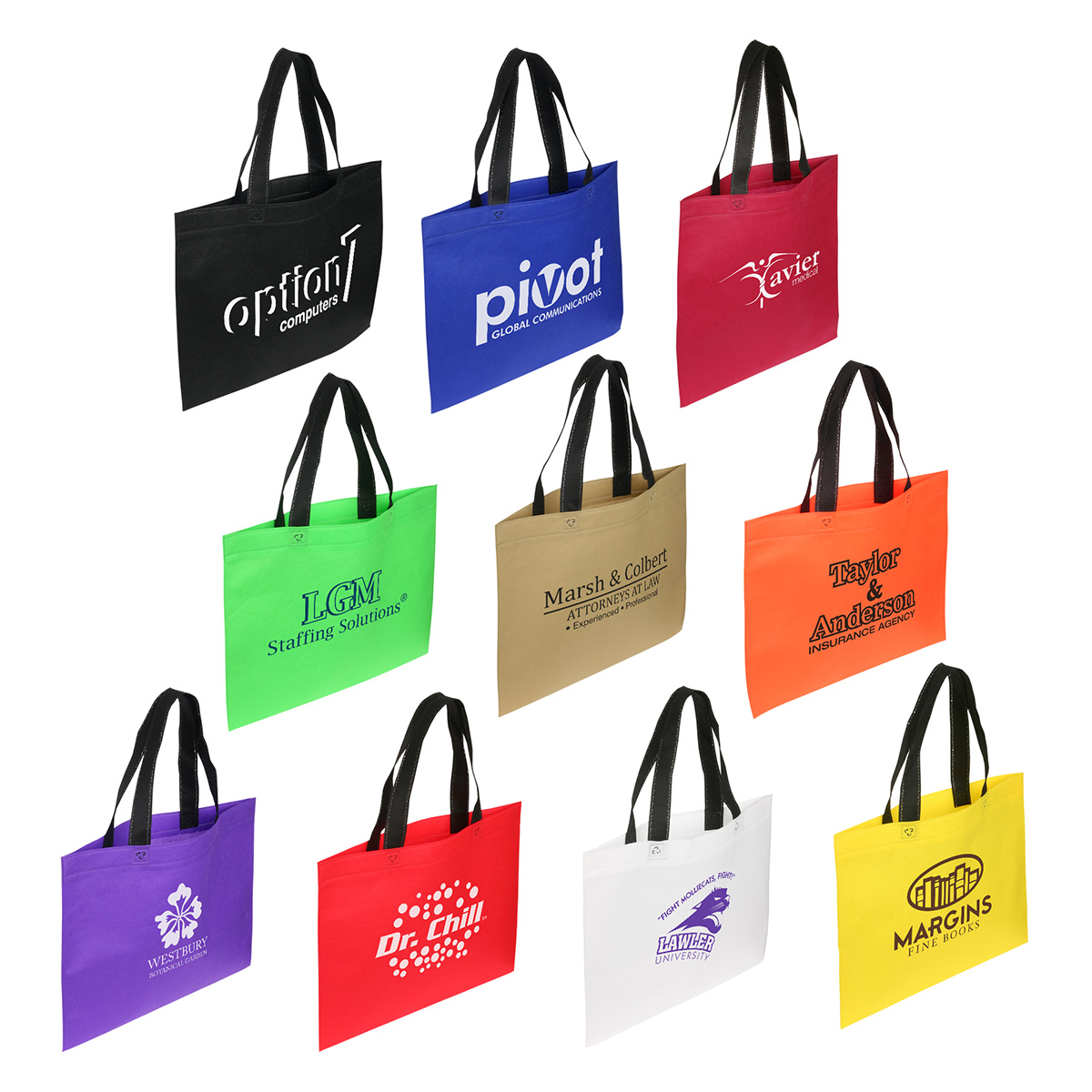 Landscape Recycle Shopping Bag, WBA-LR11, 1 Colour Imprint