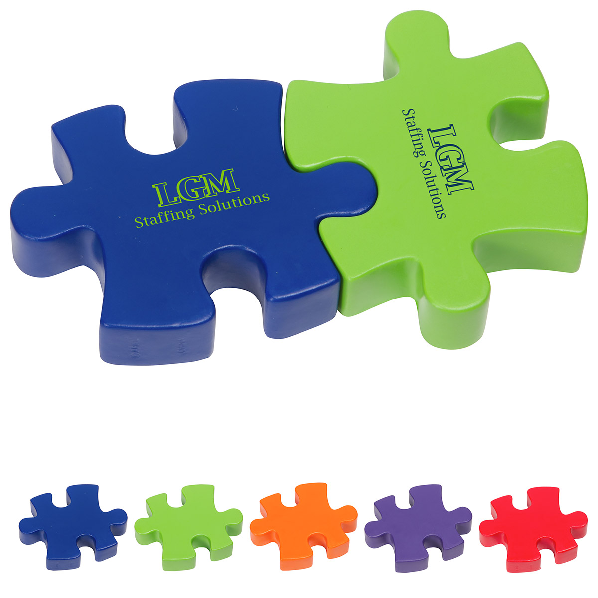 2-Piece Connecting Puzzle Set, LGS-2P17 - 1 Colour Imprint