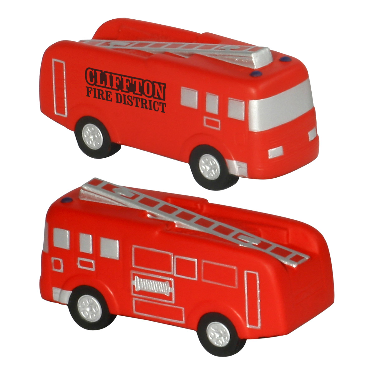 Fire Truck Stress Reliever, LCC-FT25, 1 Colour Imprint