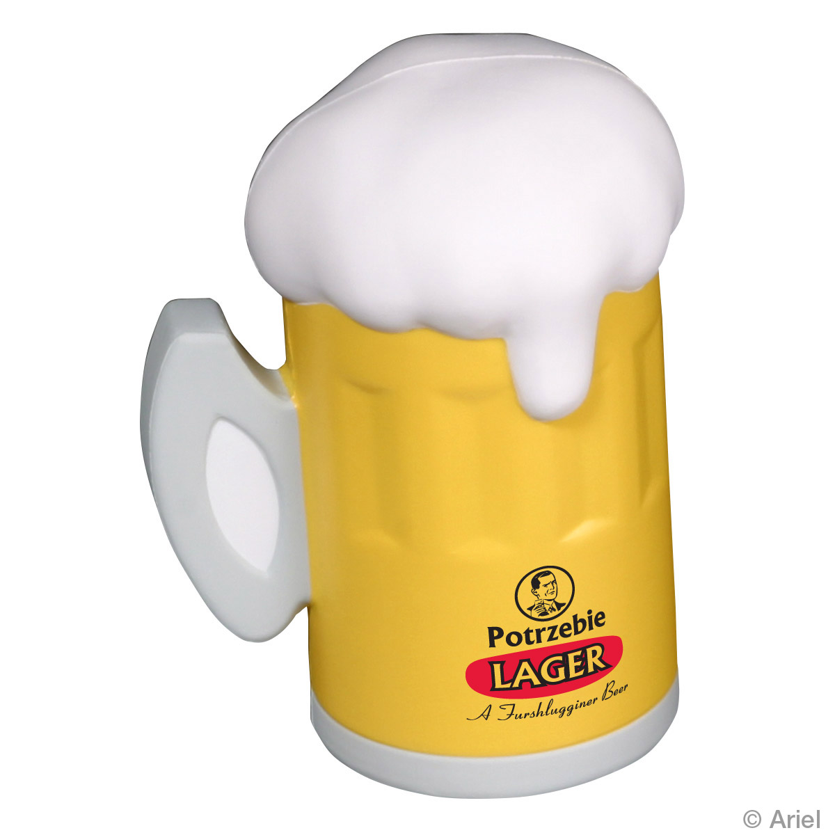 Beer Mug Stress Reliever, LFD-BE07 - 1 Colour Imprint