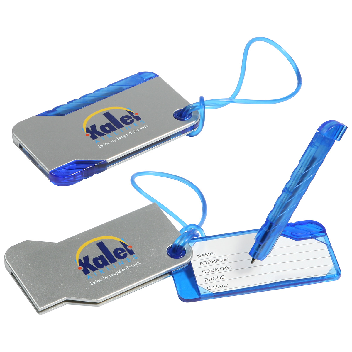 Hideaway Luggage Tag & Pen, WTV-LP10 - 1 Colour Imprint