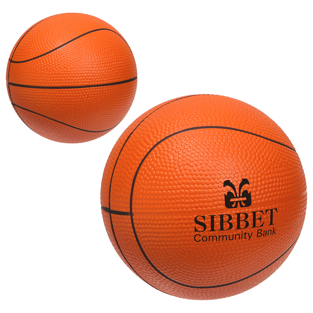 Large Basketball Stress Reliever, LSP-BK18, 1 Colour Imprint
