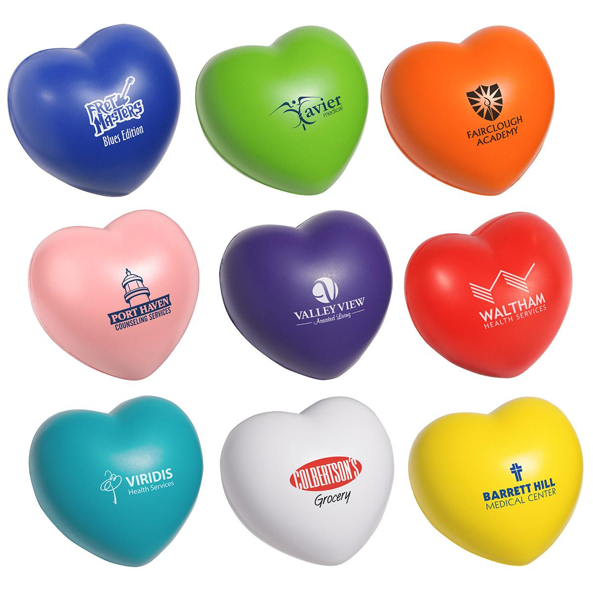 Valentine Heart Stress Reliever, LGS-VH07 - 1 Colour Imprint