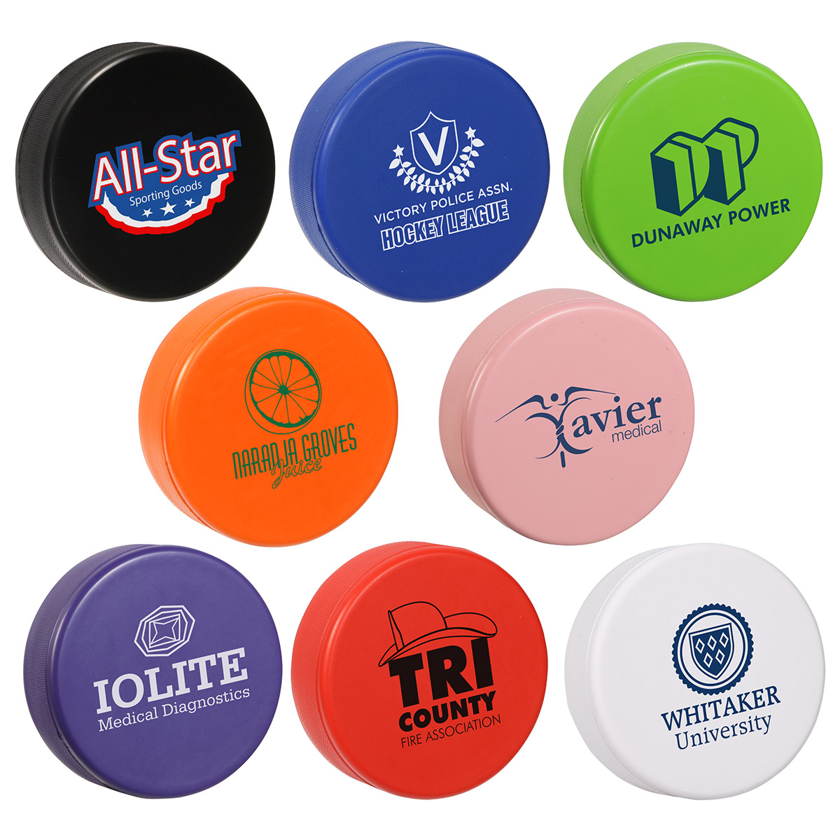 Hockey Puck Stress Reliever, LSP-HK05, 1 Colour Imprint