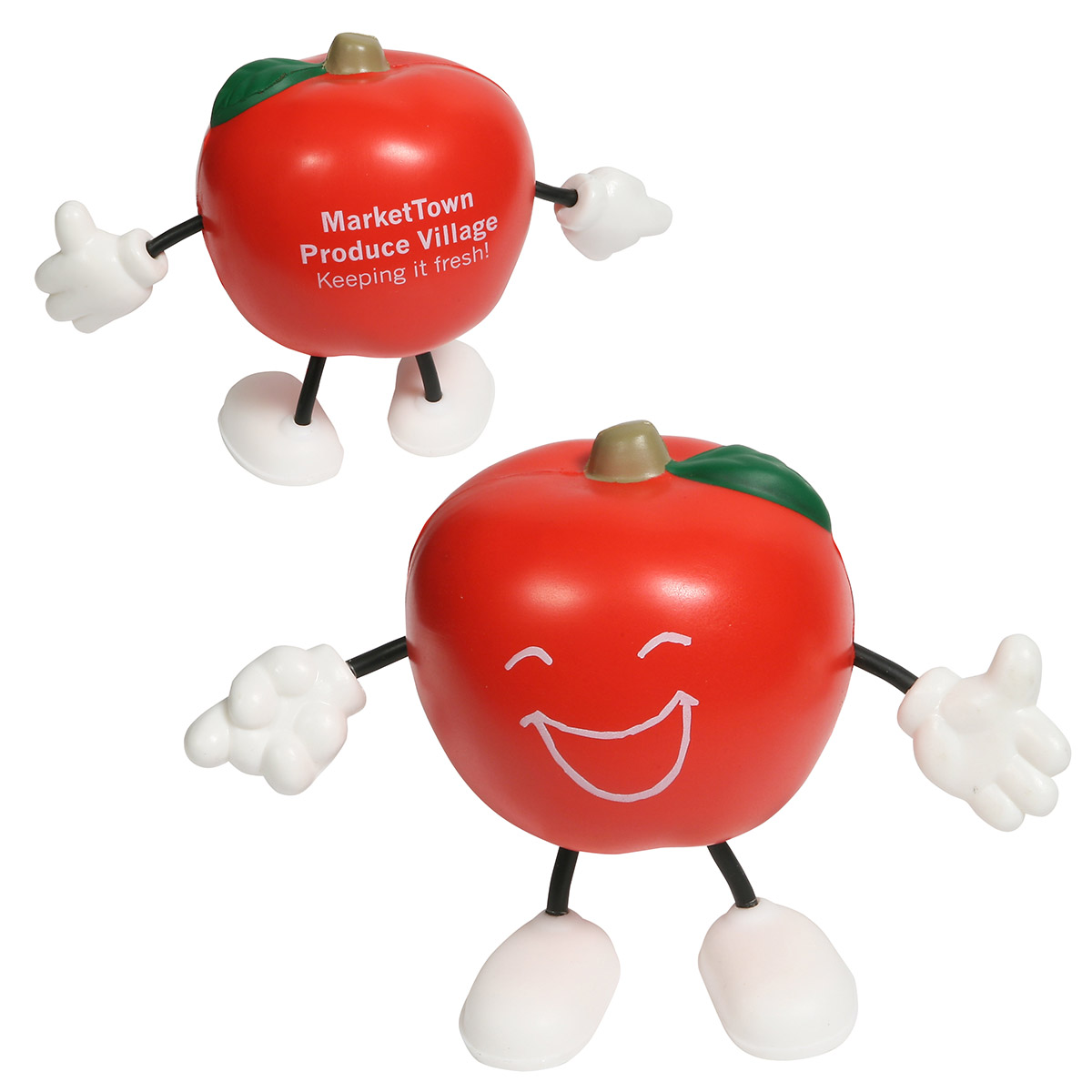 Apple Figure Stress Reliever, LCH-AP02 - 1 Colour Imprint