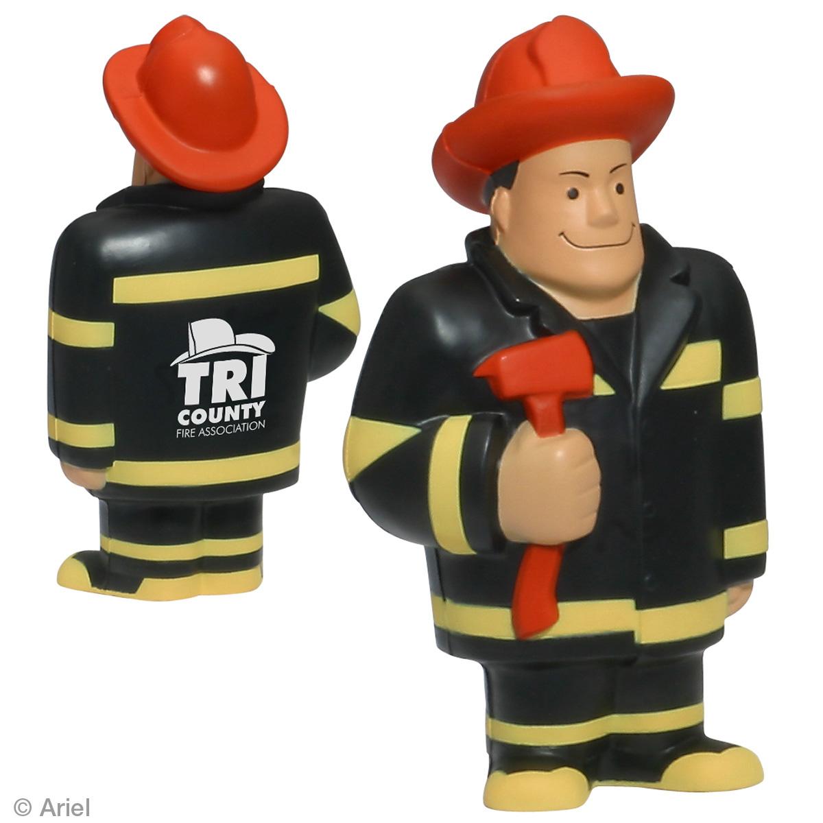 Fireman Stress Reliever, LCC-FM06 - 1 Colour Imprint