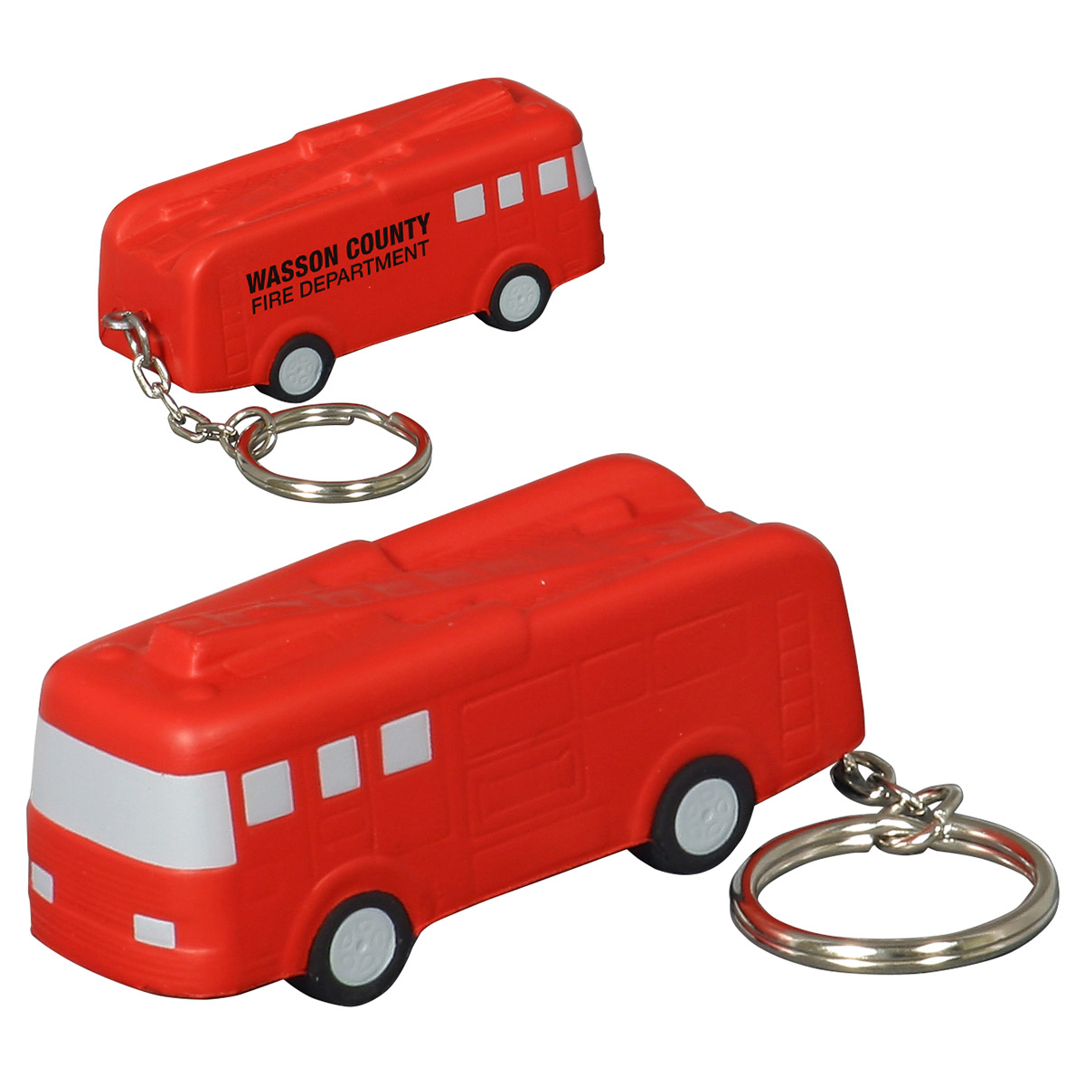 Fire Truck Stress Reliever Keychain, LKC-FT25 - 1 Colour Imprint