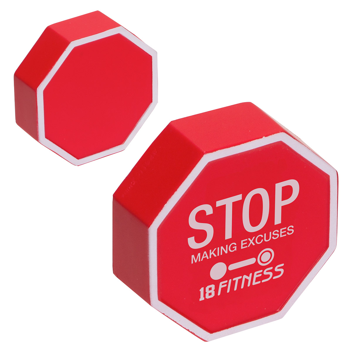 Stop Sign Stress Reliever, LCC-ST11, 1 Colour Imprint
