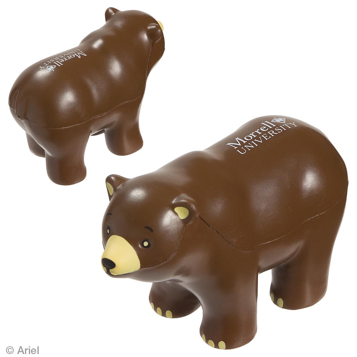 Bear Stress Reliever, LAZ-BR09, 1 Colour Imprint