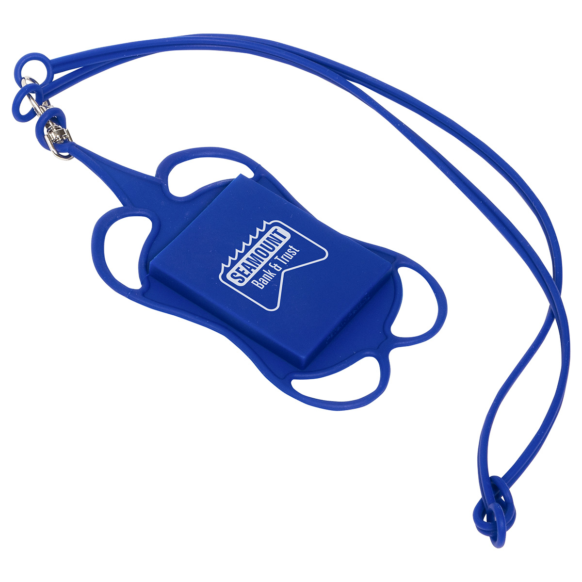 Silicone Lanyard Smart Phone and Card Holder, WCP-LC16, 1 Colour Imprint