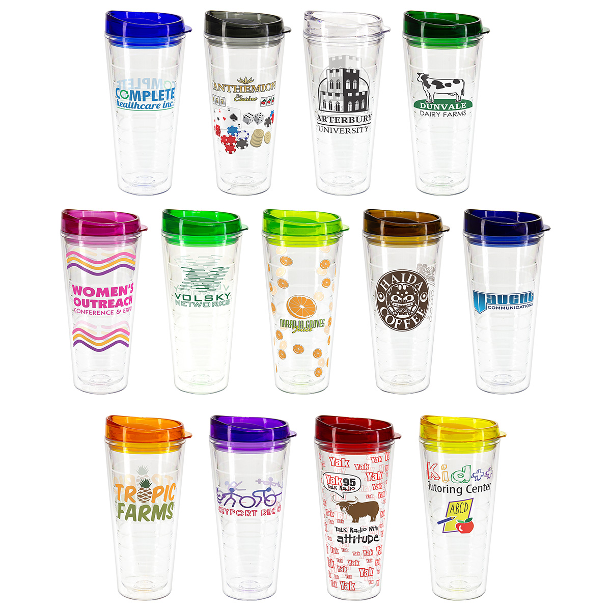 Seabreeze 22 oz Tritan Tumbler with Translucent Lid, DWI-SB18, Full Colour Imprint