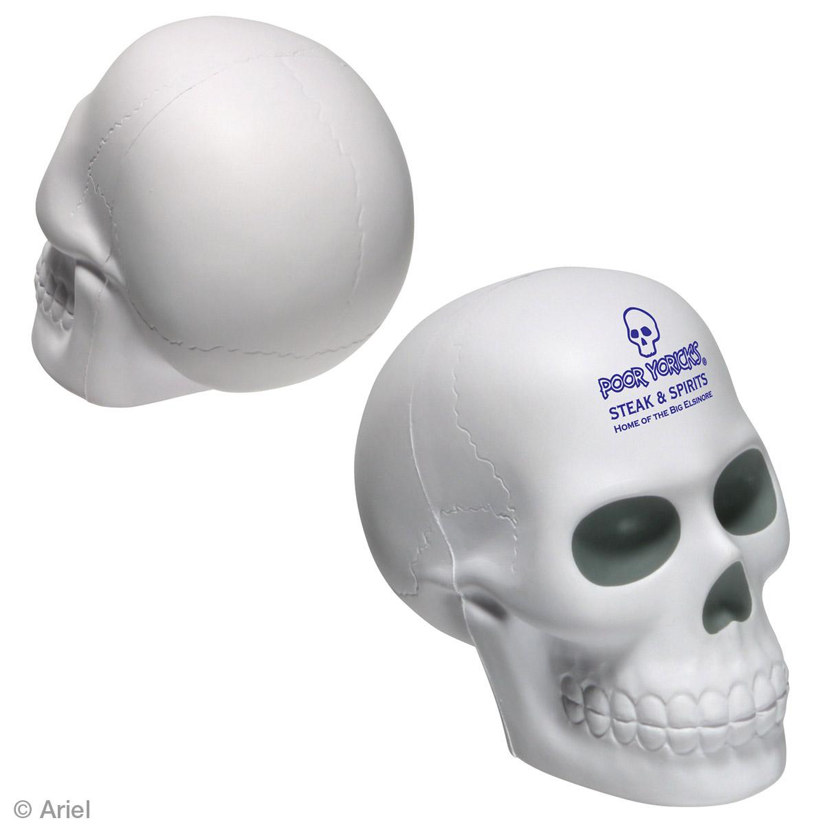 Skull Stress Reliever, LAN-SK07, 1 Colour Imprint