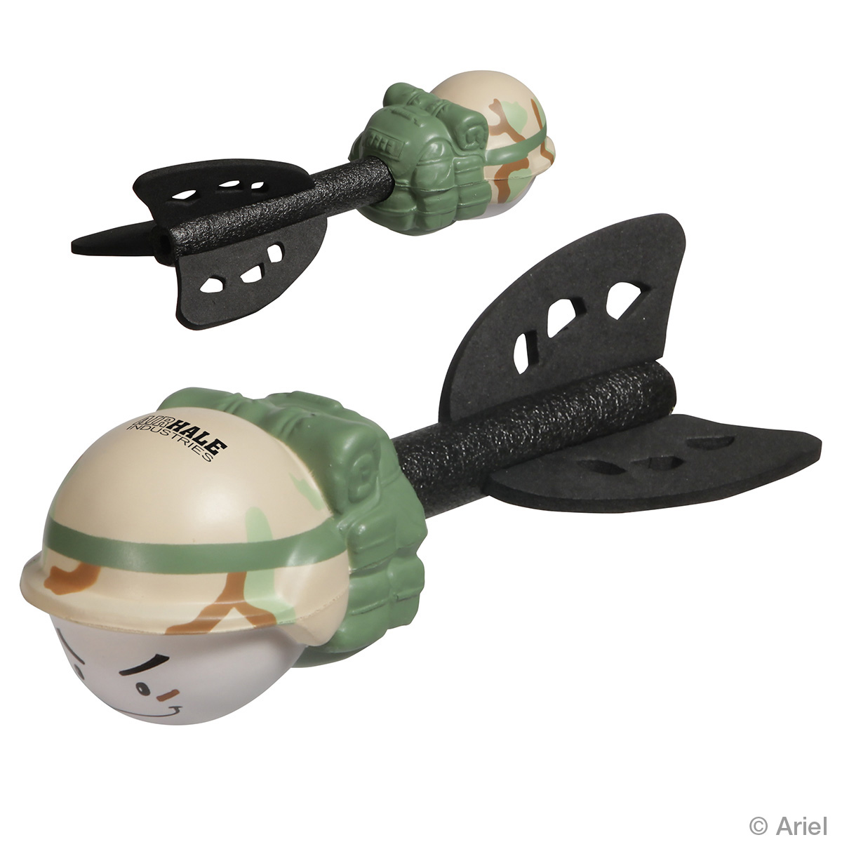 Fun Flinger Military Helicopter Stress Reliever, WOR-FM12 - 1 Colour Imprint