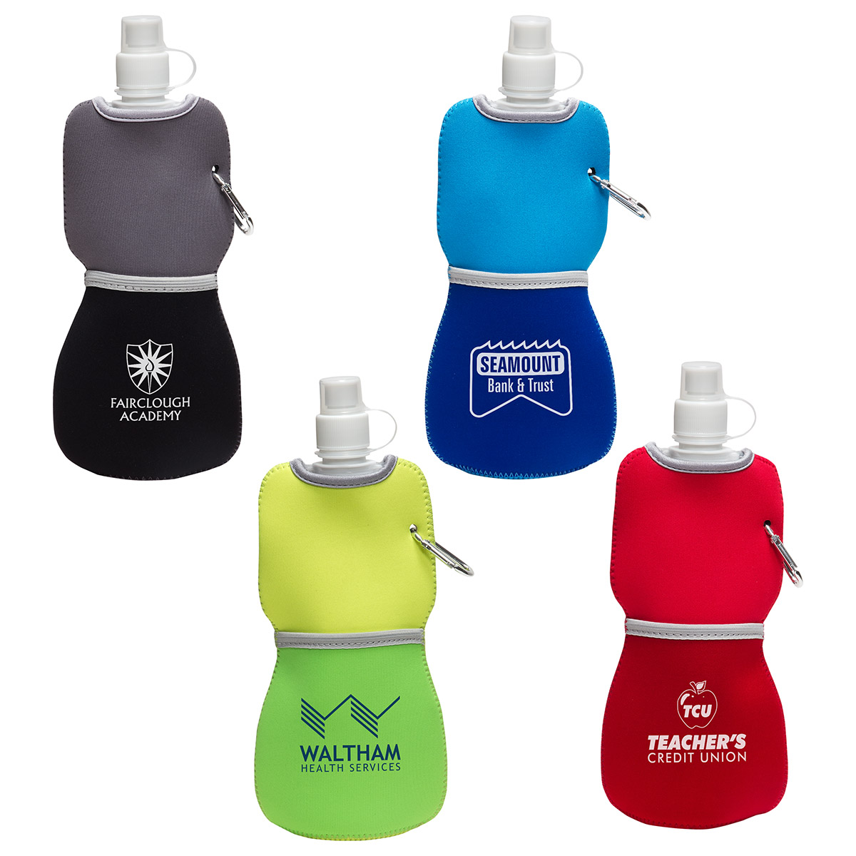 16 Oz. Flex Water Bottle w/ Neoprene Insulator, WKA-FW15 - 1 Colour Imprint