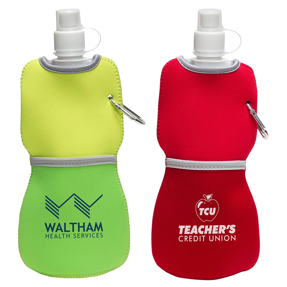 16 Oz. Flex Water Bottle w/ Neoprene Insulator, WKA-FW15 - 1 Colour Imprint