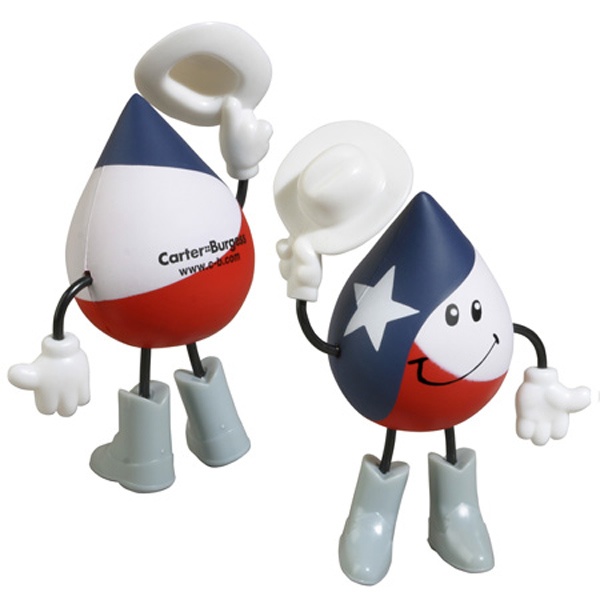 Texas Figure Stress Reliever, LCH-TX14 - 1 Colour Imprint