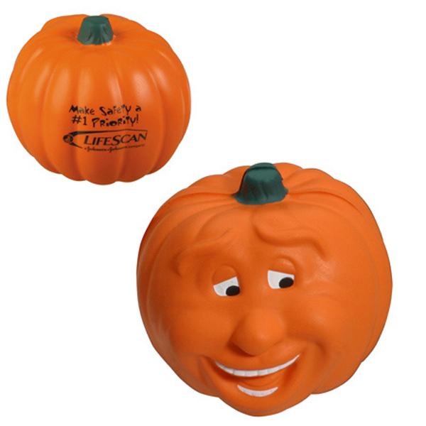 Pumpkin Smile Stress Reliever, LHO-PS07 - 1 Colour Imprint