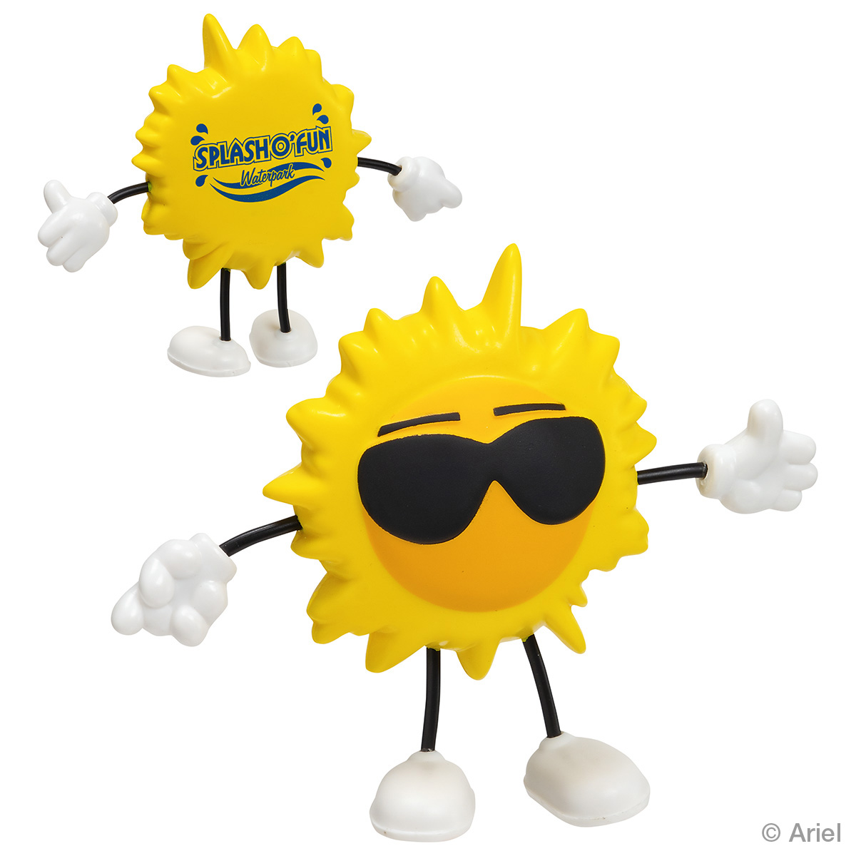 Cool Sun Stress Reliever Figure, LCH-CS01, 1 Colour Imprint