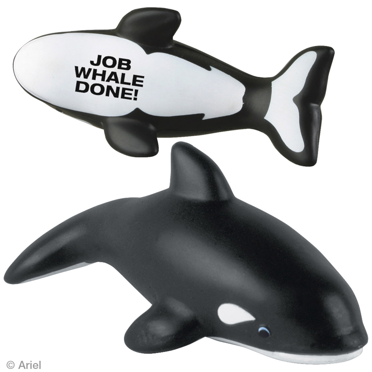 Killer Whale Stress Reliever, LAA-KW05, 1 Colour Imprint