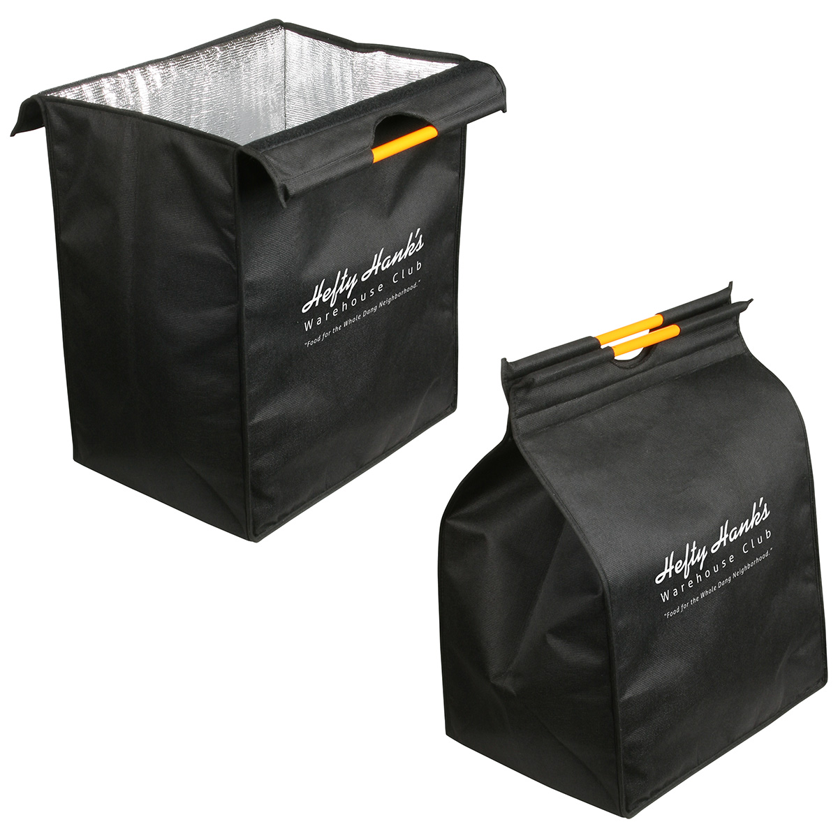 XL Insulated Recycled P.E.T. Shopping Bag, WBA-XR10, 1 Colour Imprint