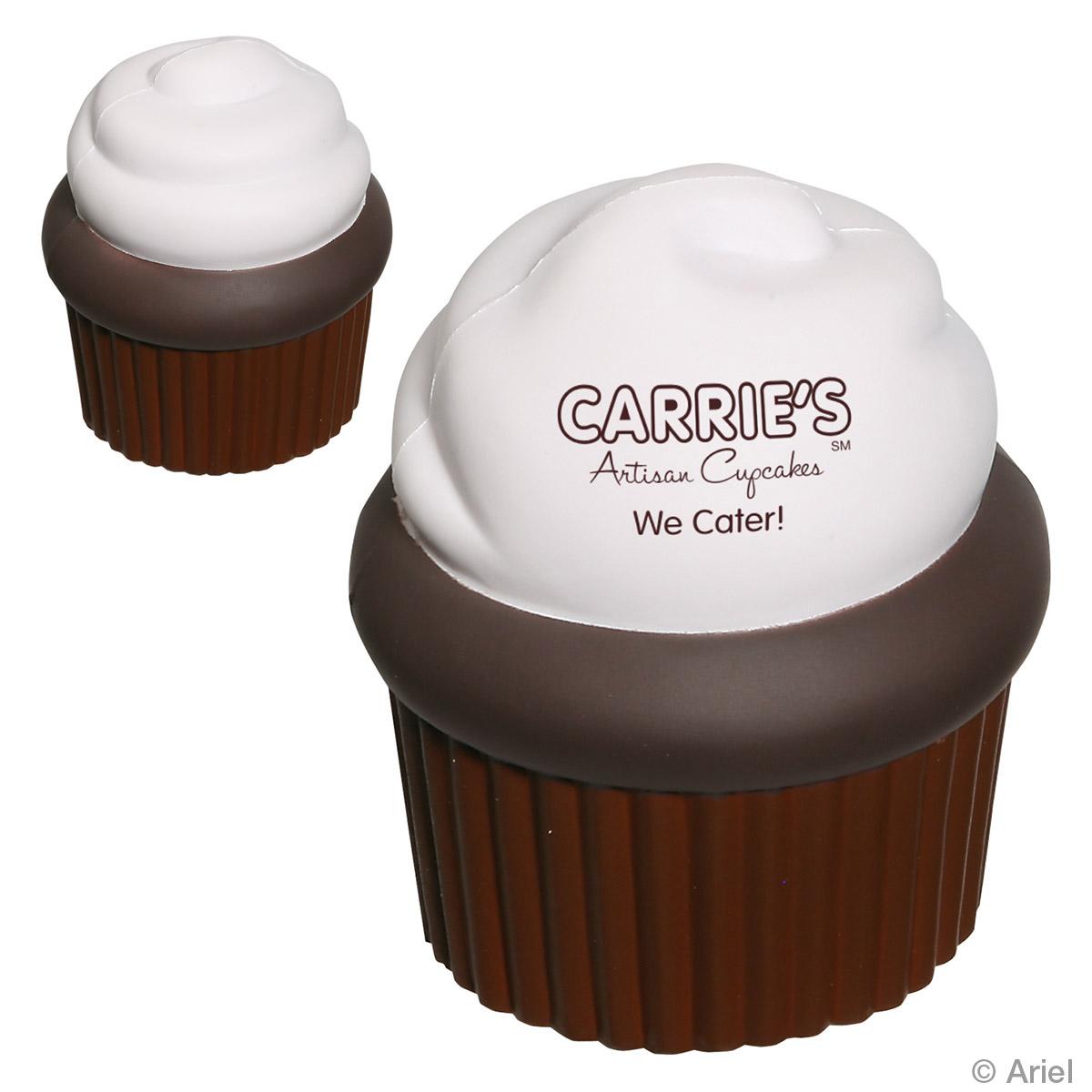 Cupcake Stress Reliever, LFD-CP11, 1 Colour Imprint