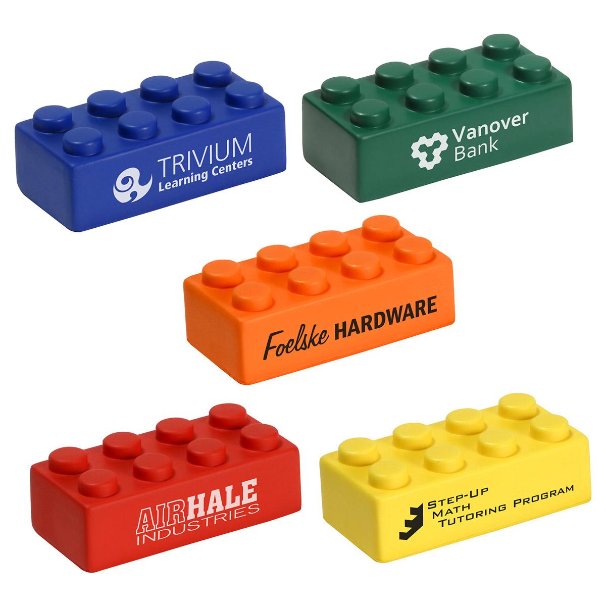 Single Building Block Stress Reliever, LGS-BL07 - 1 Colour Imprint