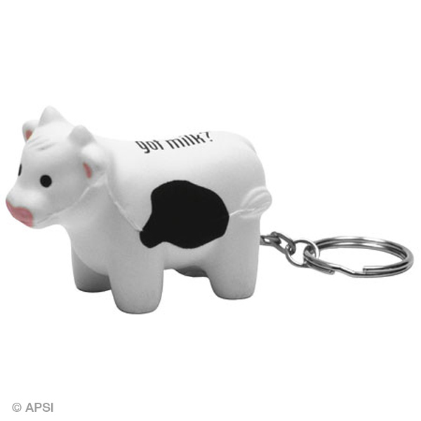 Milk Cow Stress Reliever Key Chain, LKC-MC11, 1 Colour Imprint