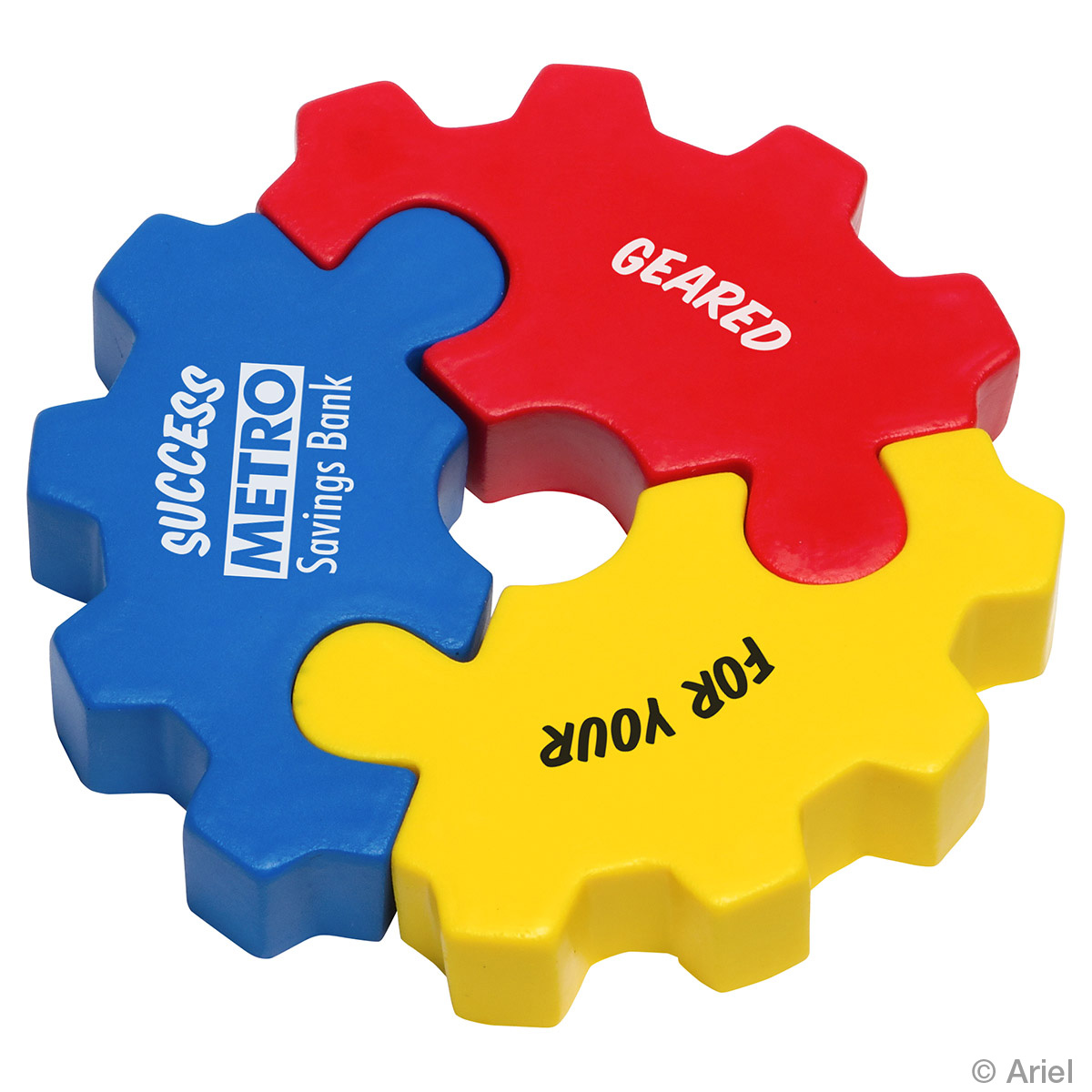 3 Piece Gear Puzzle Set Stress Reliever, LGS-GP16, 1 Colour Imprint
